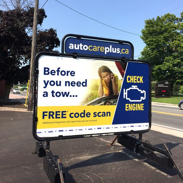 AutoCare Plus Curbex sign- Design by Henstra Design
