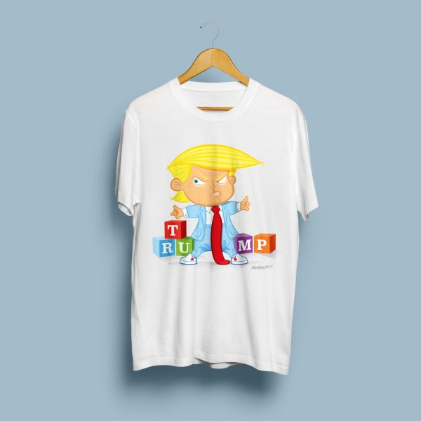 Cartoon Trump t-shirt by Henstra Design