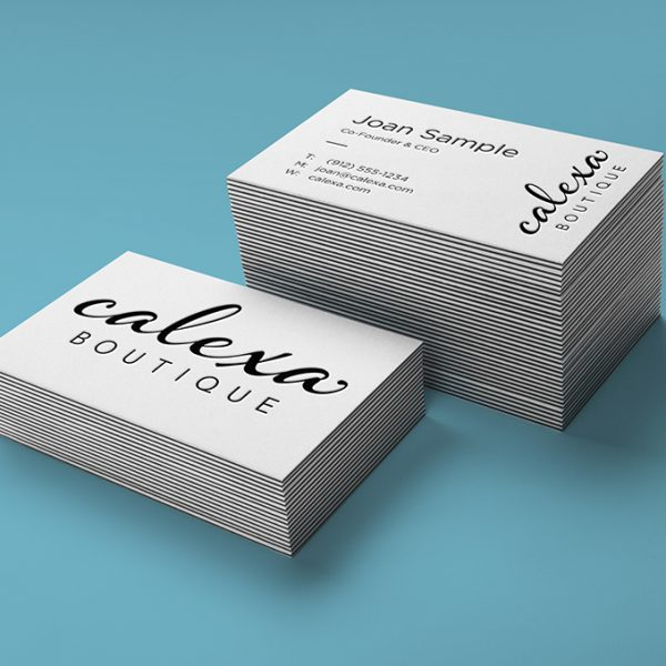 Calexa Boutique business cards- design by Henstra Design